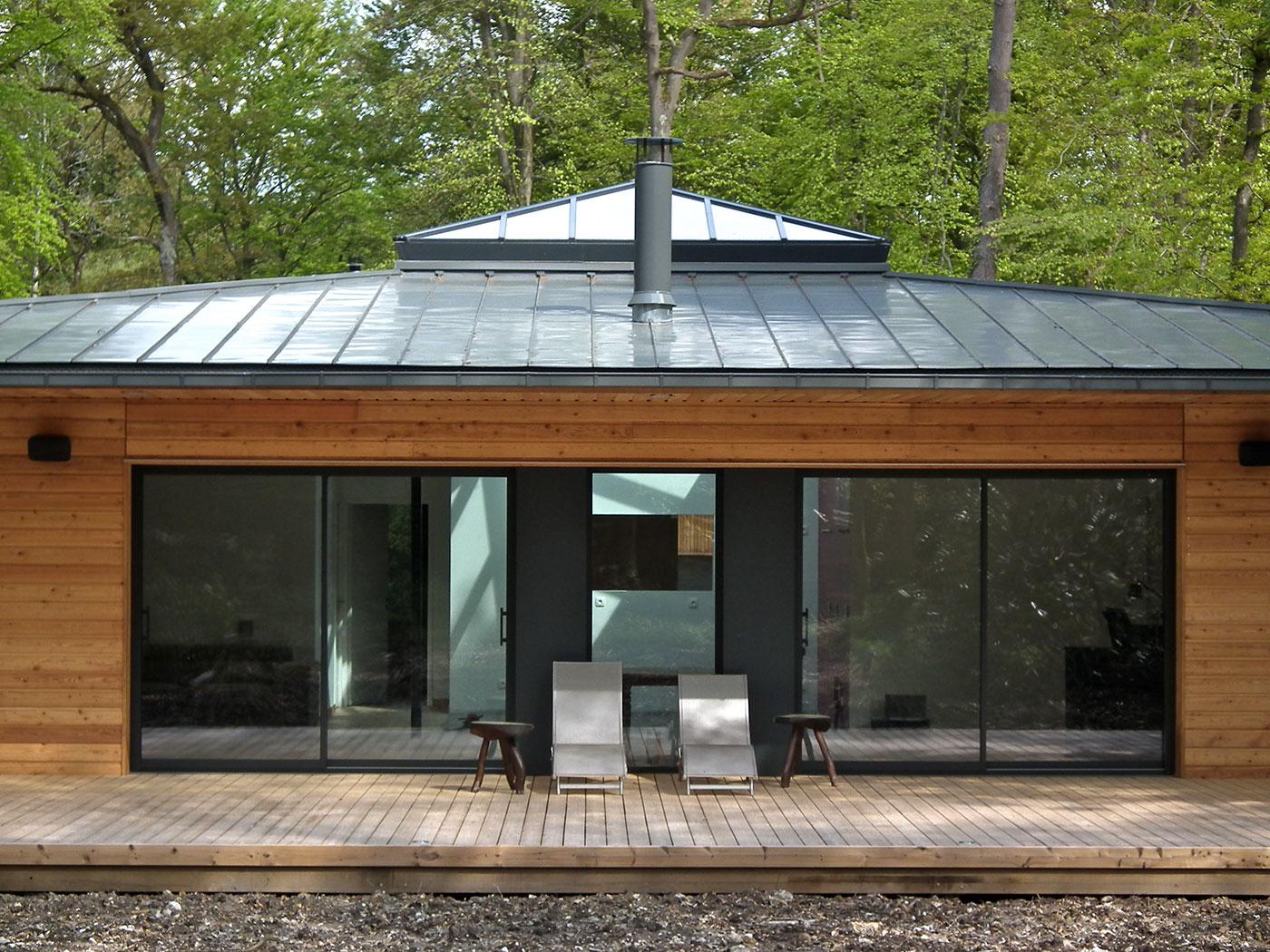 E2r maisons bois constructeur de maison ossature bois for Constructeur maison contemporaine seine maritime