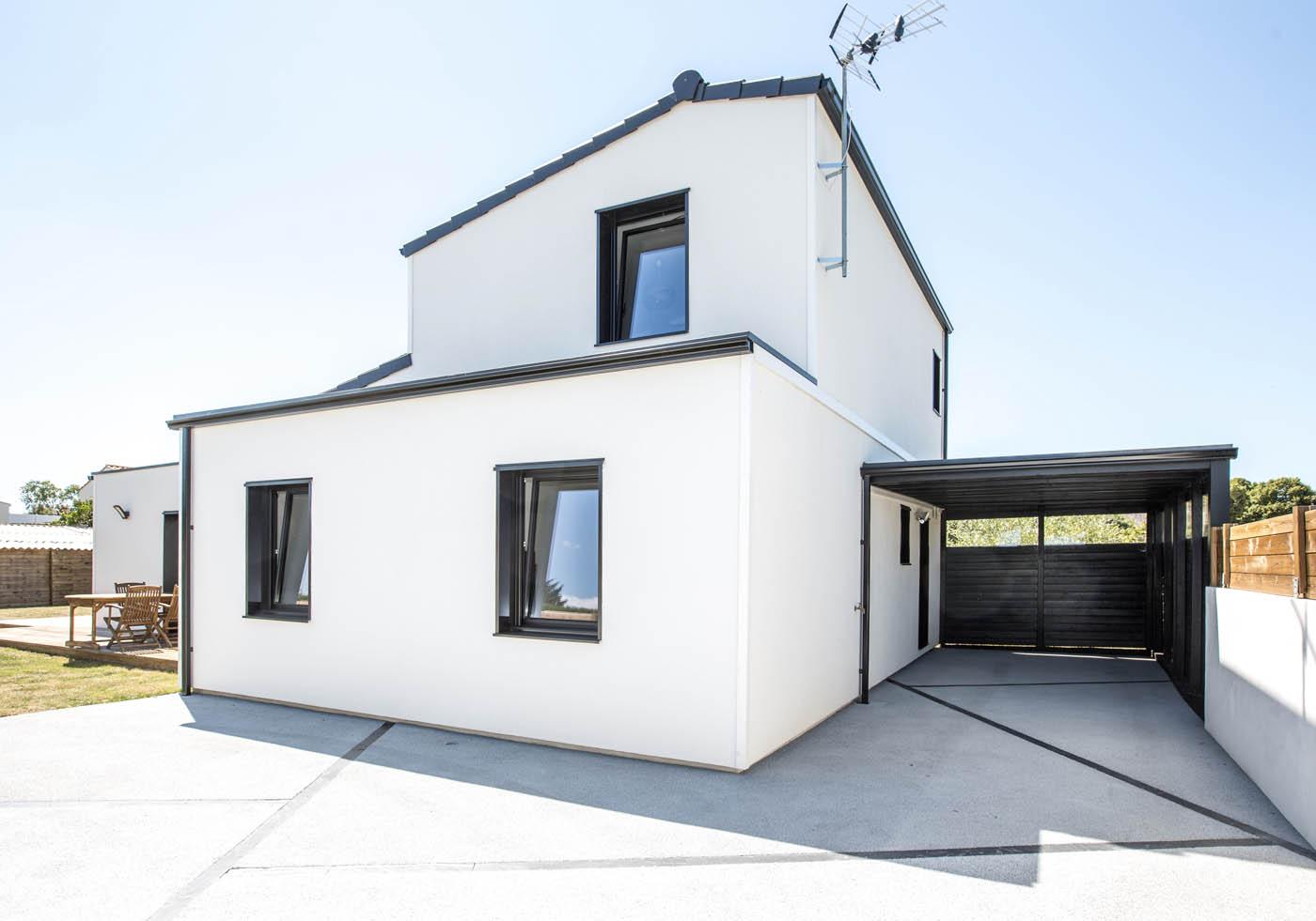 Maison ossature bois arcadial sur mesure pour une for Maison semi contemporaine