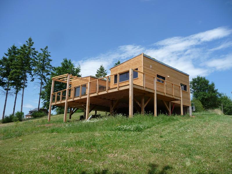 Abita maison bois dans l 39 aveyron la maison bois par for Constructeur une maison en bois