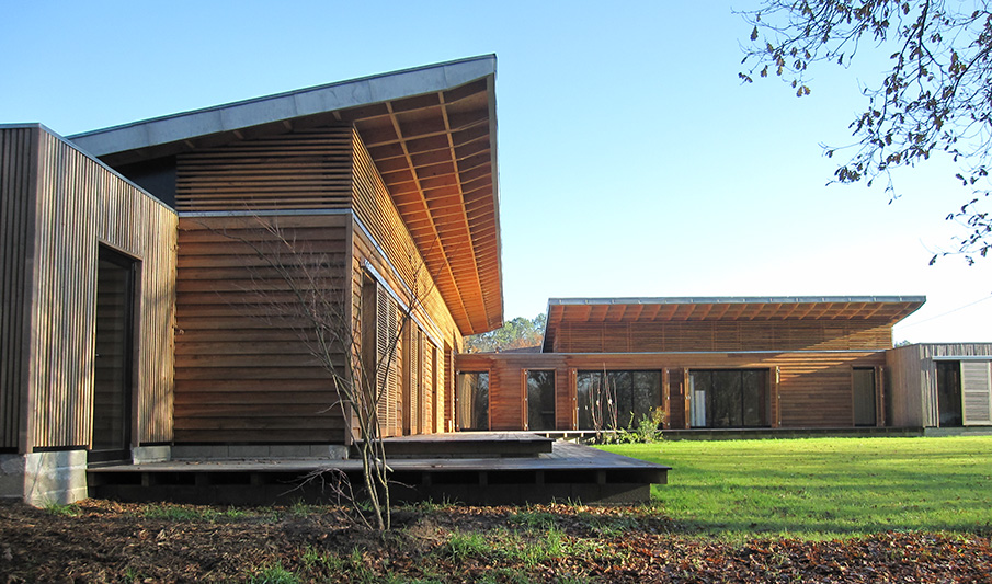 Bms construction de maisons en bois dans le sud ouest de for Construction maison bois 56