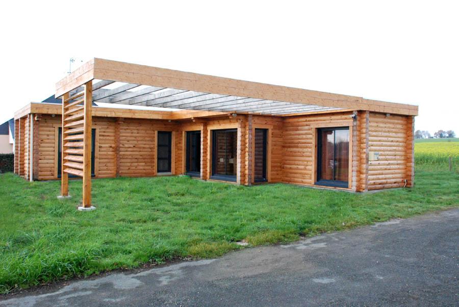 Ganeeva maisons en bois massif en mayenne la maison bois par maisons - La maison bois massif ...