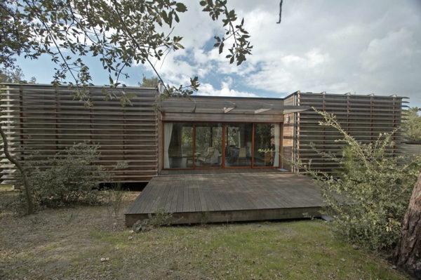 Maison bois sur pilotis en haut d'une dune à Soulac-sur-Mer par BM Système