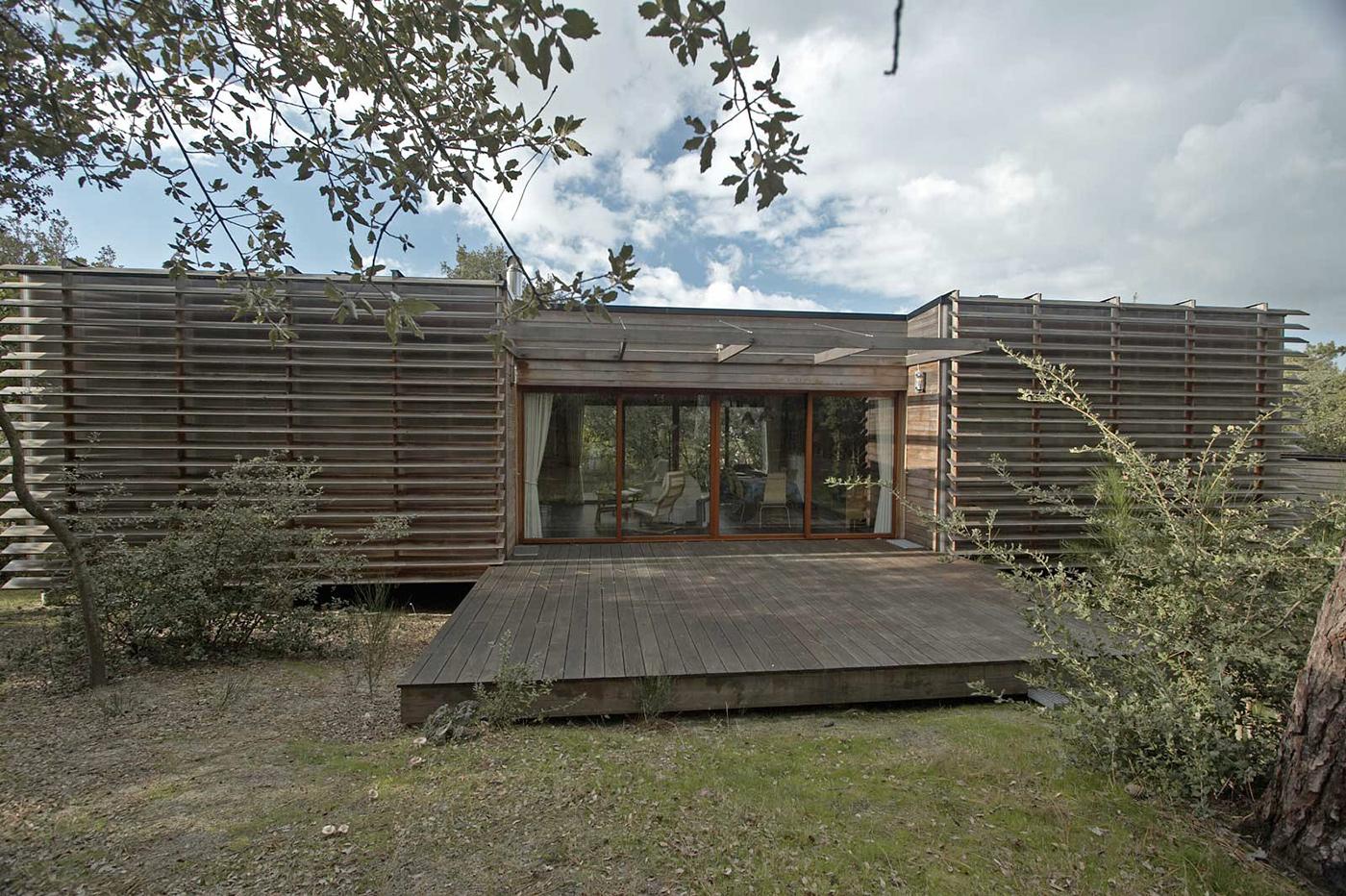 Maison bois sur pilotis en haut d'une duneà Soulac sur Mer par BM Syst u00e8me la maison bois par  # Maison Bois Sur Pilotis