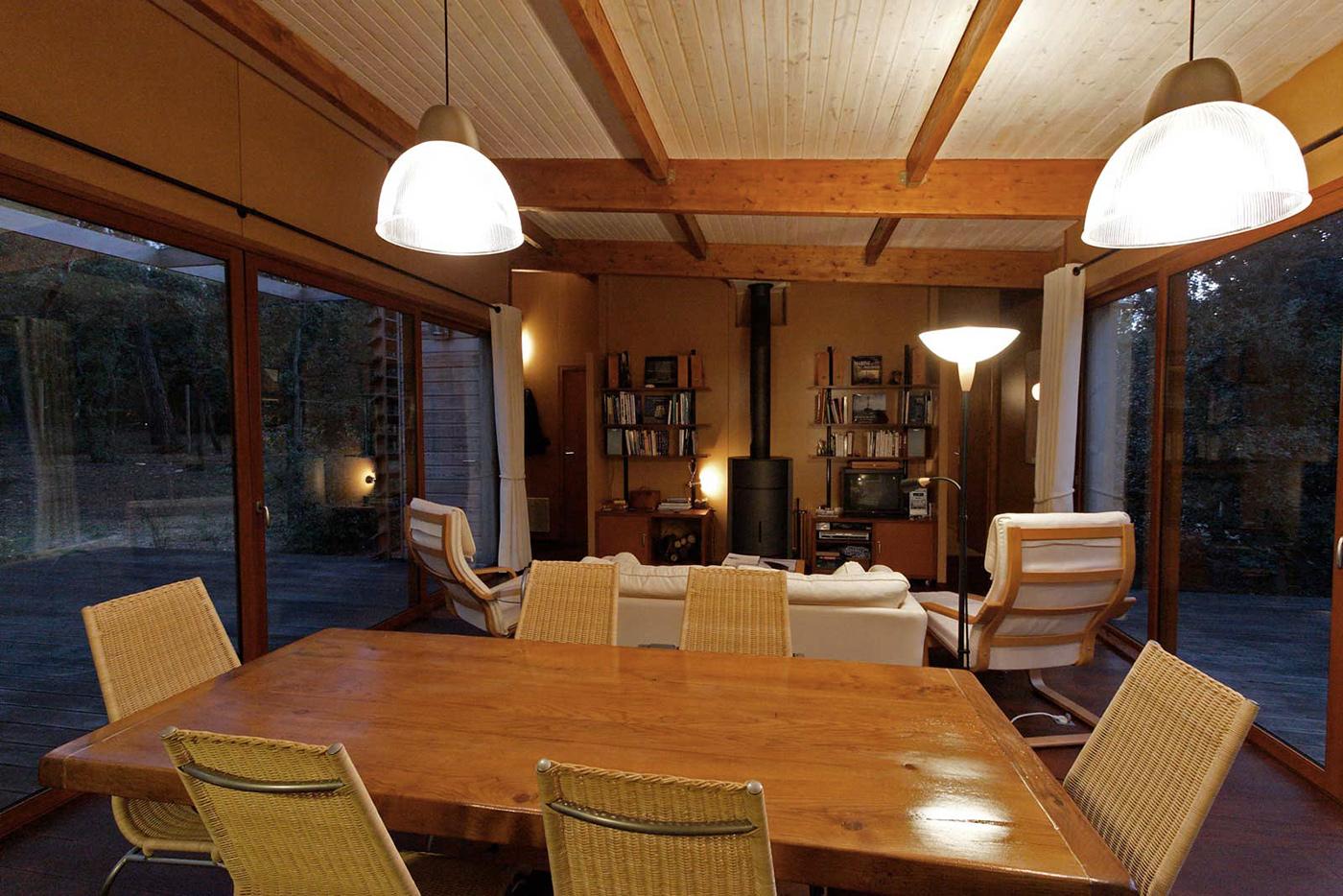 maison bois sur pilotis en haut d 39 une dune soulac sur mer par bm syst me la maison bois par. Black Bedroom Furniture Sets. Home Design Ideas