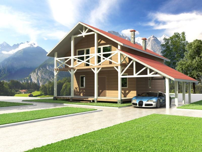 Robin wood maisons bois sur mesures ou en kit la maison for Garage bois en kit sur mesure