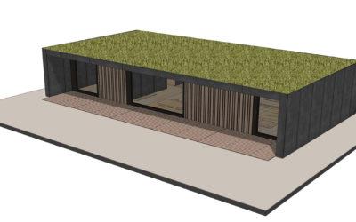 I Loge You, une maison bois démontable, sociale et végétalisée