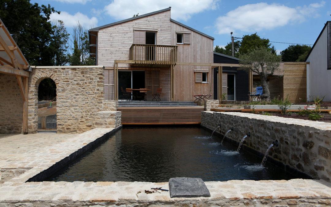 Maison de Bois, constructeur de maisons ossature bois et extensions bois dans le Morbihan