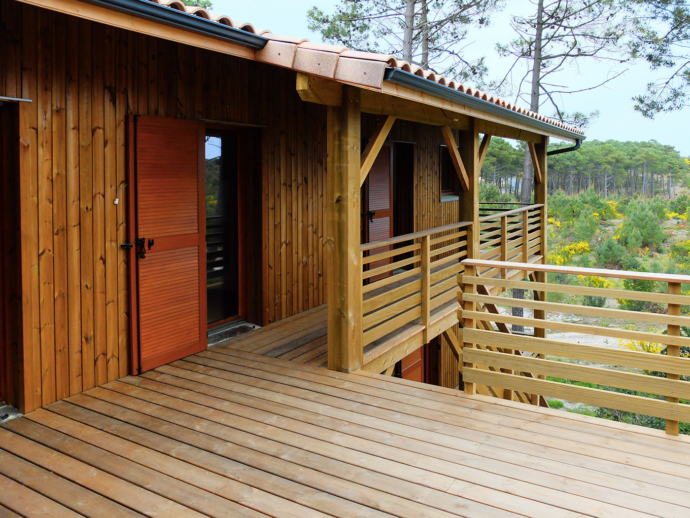 maison en bois aquitaine cheap vente maison en bois. Black Bedroom Furniture Sets. Home Design Ideas