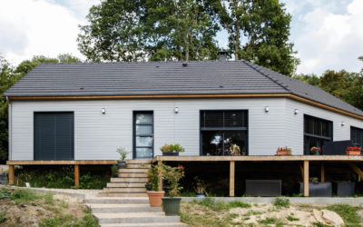 Maison à ossature bois très lumineuse par Construction AMB