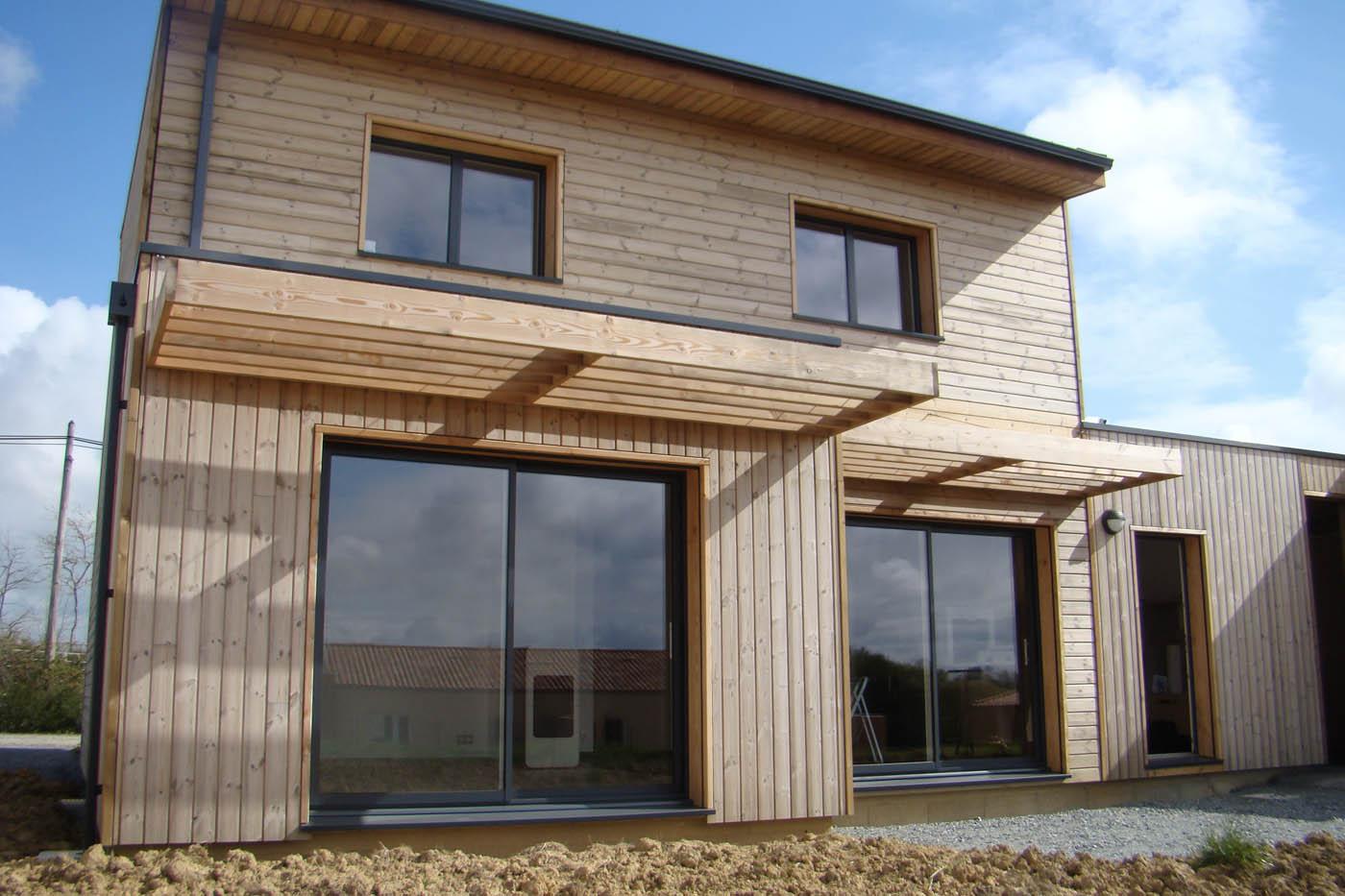 Maison ossature bois bbc en vend e par gu rin br maud for Construction maison en bois vendee