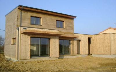 Maison ossature bois BBC en Vendée par  Guérin-Brémaud