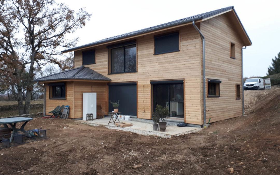 Maison ossature bois à Crémieu (38) par Bâtir Bois Confort