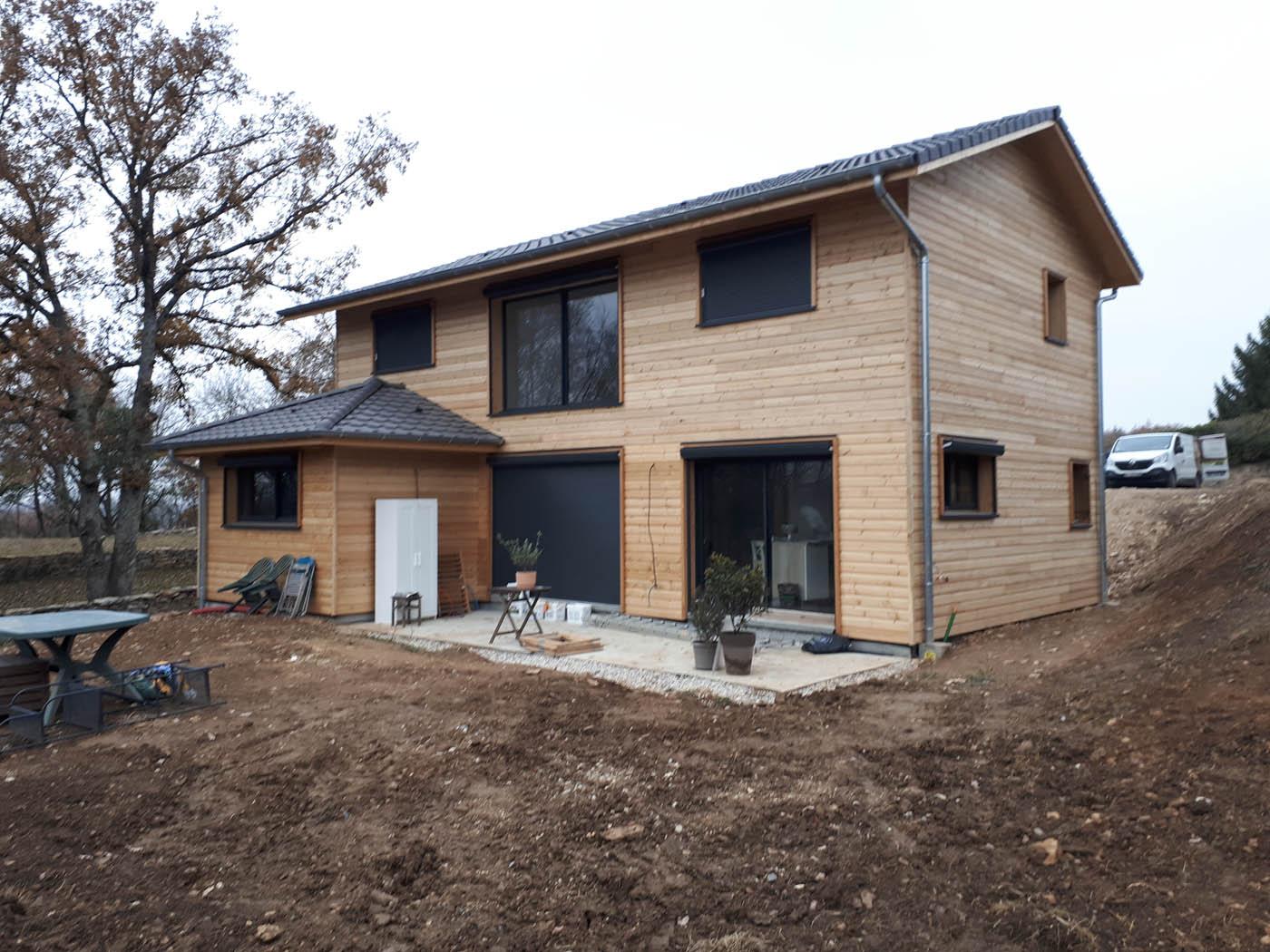 Maison ossature bois à crémieu 38 par bâtir bois confort