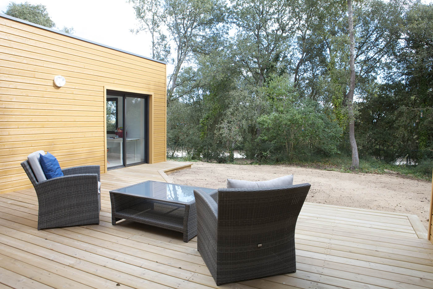 Dune par arcadial int gration naturelle d 39 une maison ossature bois sur - Differents sols maison ...