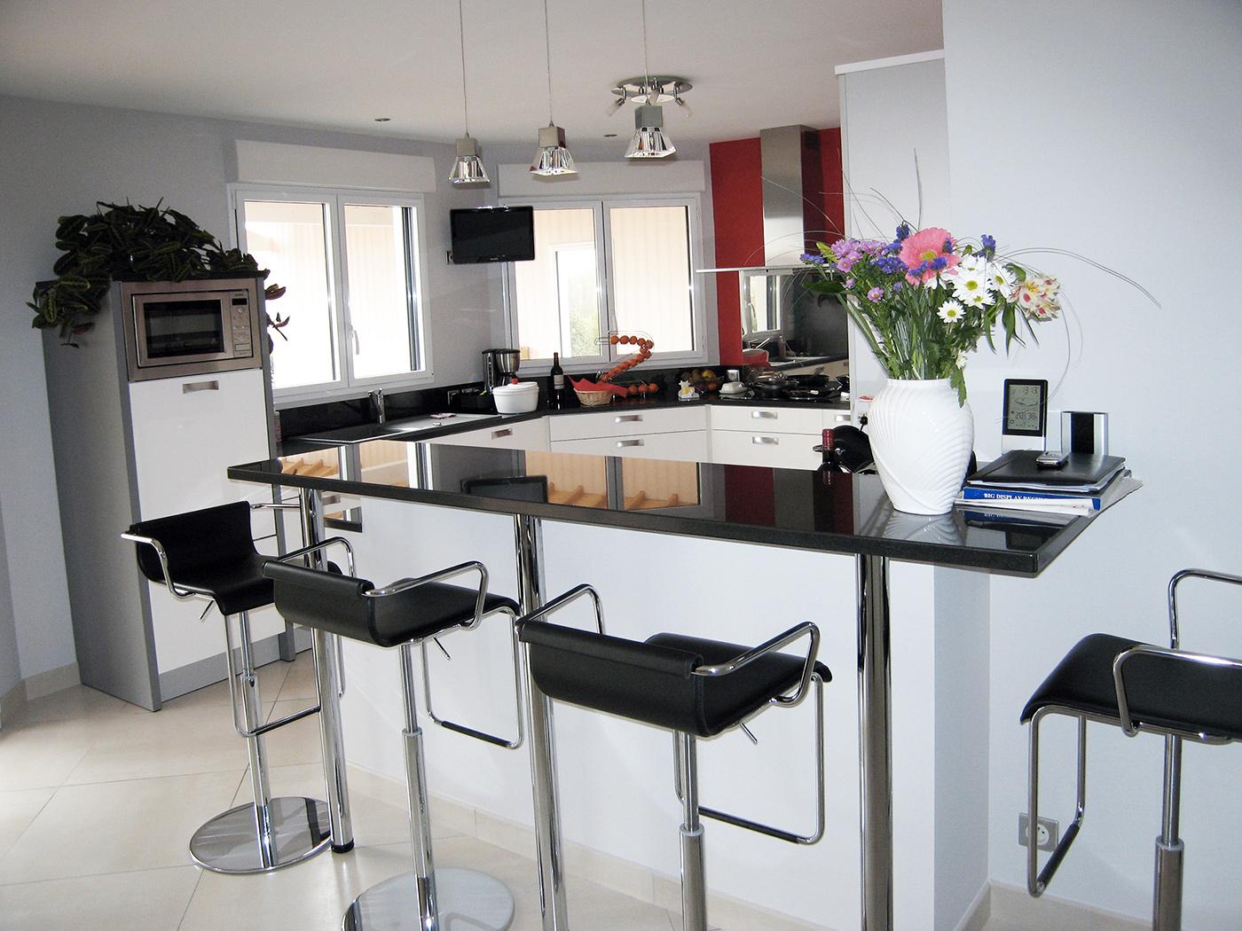 maison individuelle spacieuse de plain pied en vend e par loiseau maison bois la maison bois. Black Bedroom Furniture Sets. Home Design Ideas