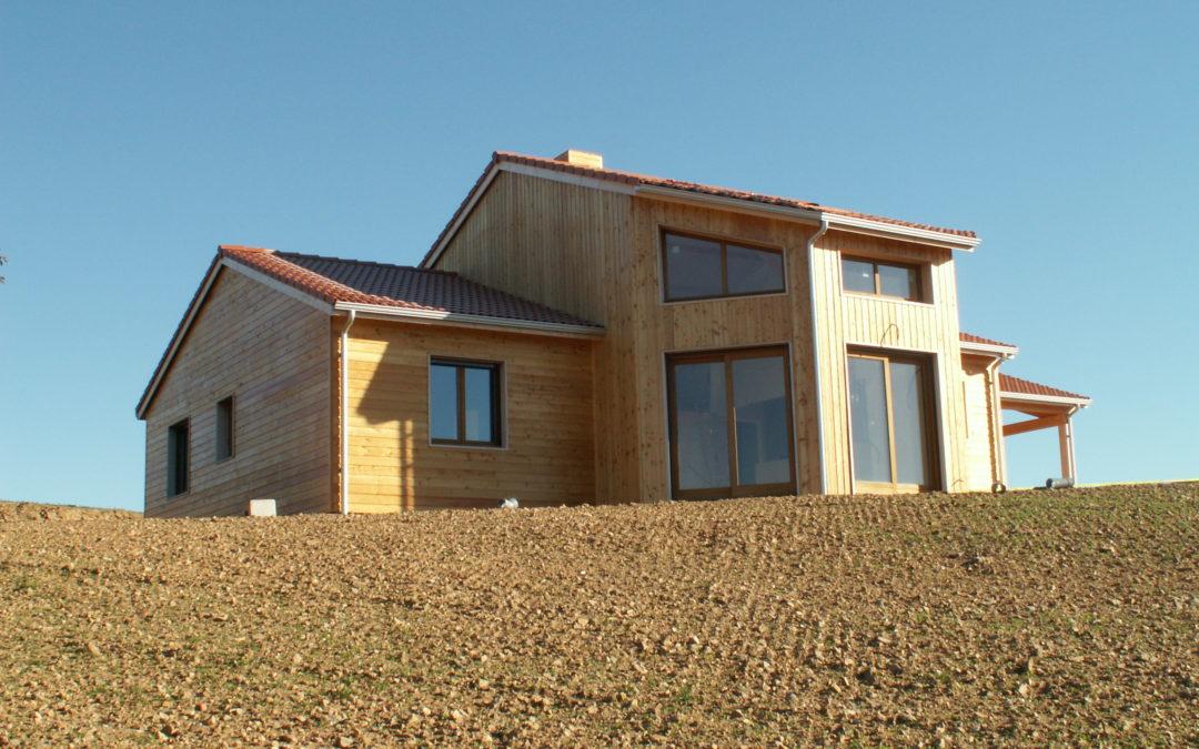 Villa Nature, construction sur mesure de maisons en ossature bois à Clermont Ferrand (63,03 et 43)