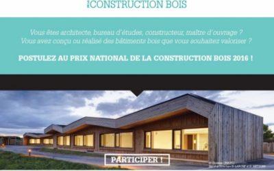 Participez au Prix National de la Construction Bois