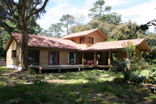 Mayom, maisons à ossature bois dans les Landes  la maison bois par maisonsb