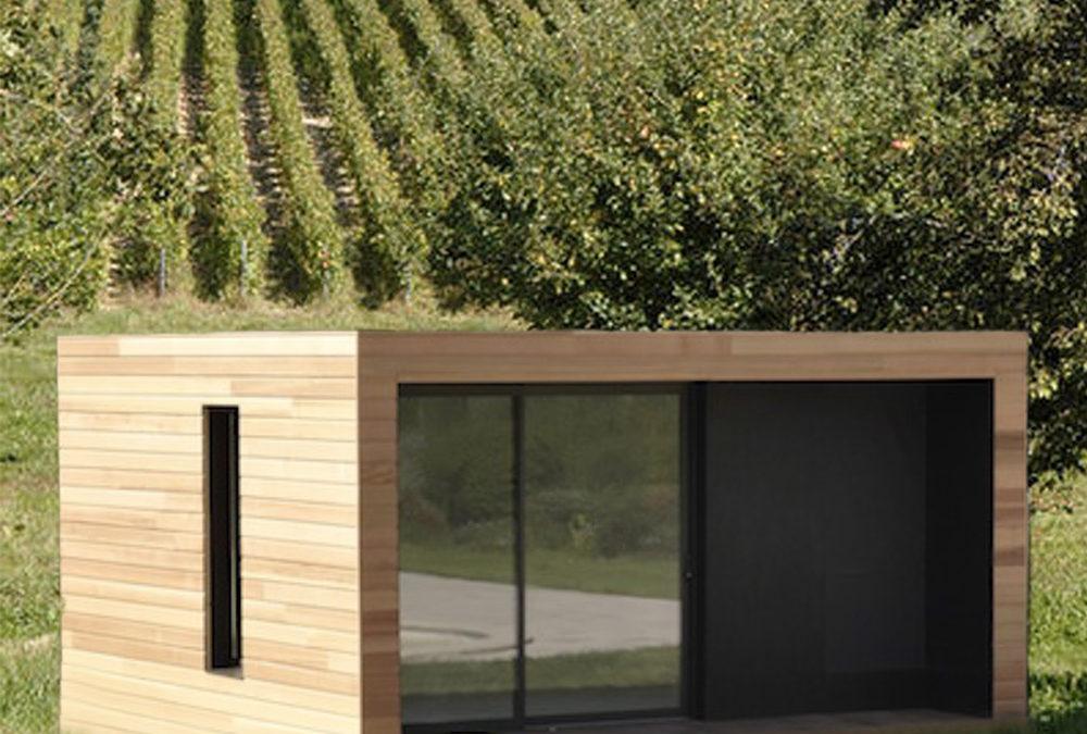 iWine : modules en bois dans les vignes