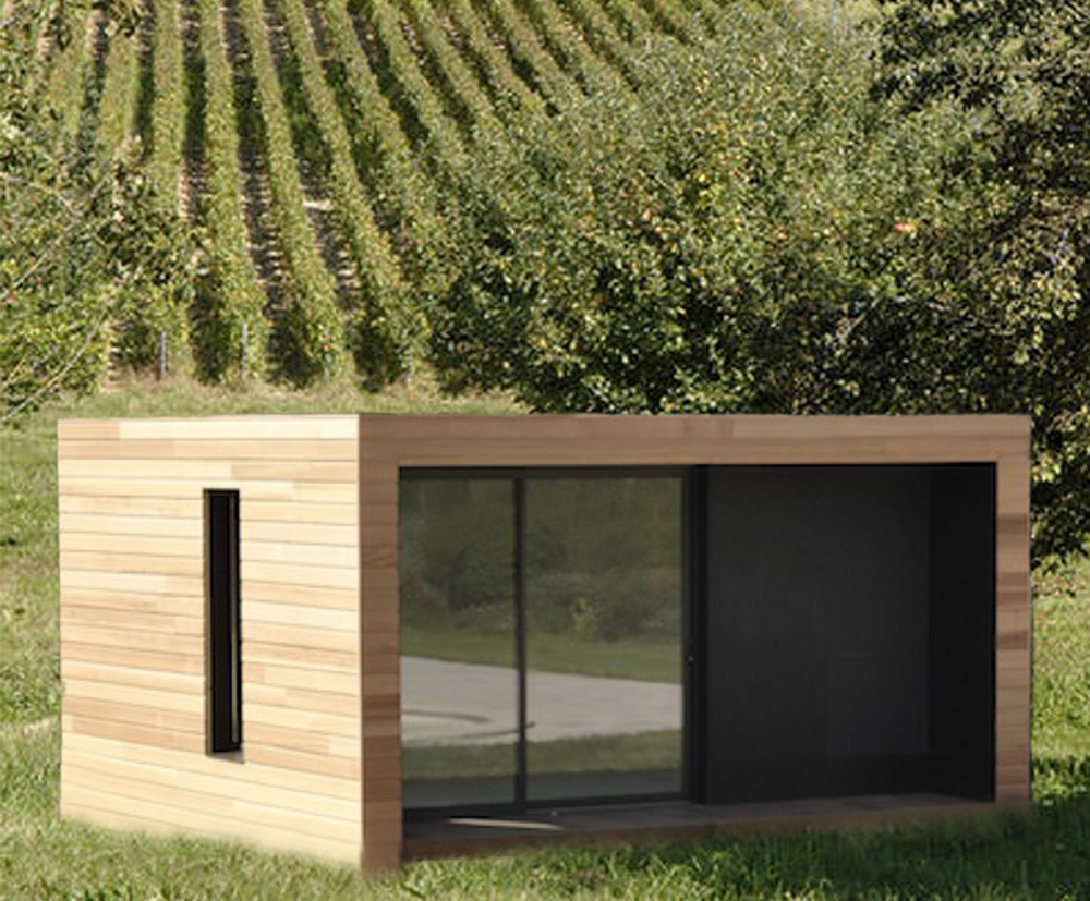 iwine modules en bois dans les vignes la maison bois par maisons. Black Bedroom Furniture Sets. Home Design Ideas