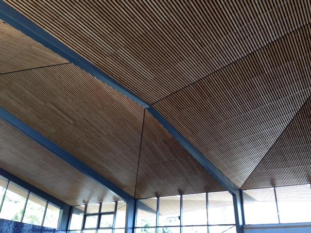2 000 m2 de plafond bois pour le stade nautique de Pau