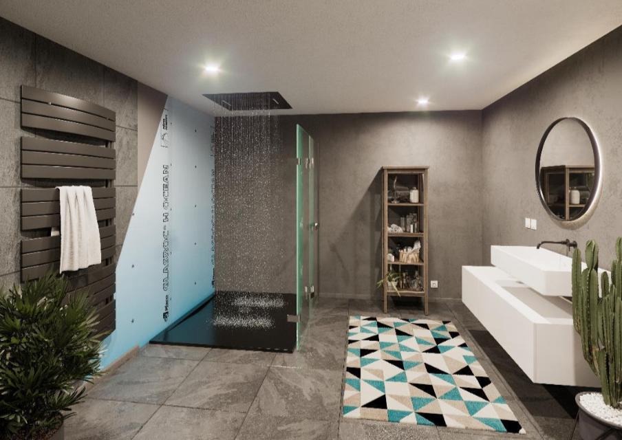 Plaques de plâtre Placo résistantes à l'humidité pour l'aménagement des salles de bains