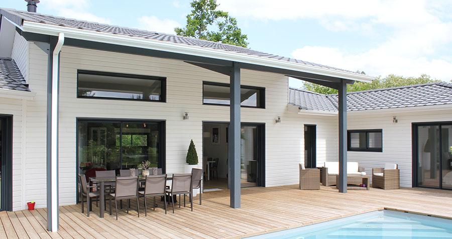 Un air de loft pour une maison bois pr s de bordeaux la maison bois par mai - Hauteur plafond maison ...