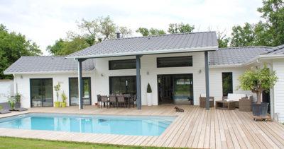 Un air de loft pour une maison bois près de Bordeaux