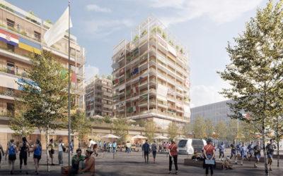 Le secteur E du village olympiques Paris 2024 sera construit avec du bois 100 % français