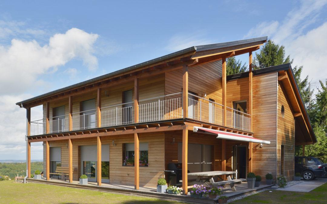 Une maison à ossature bois très bien isolée
