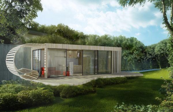 Un studio de jardin comme un voilier par Quadrapol