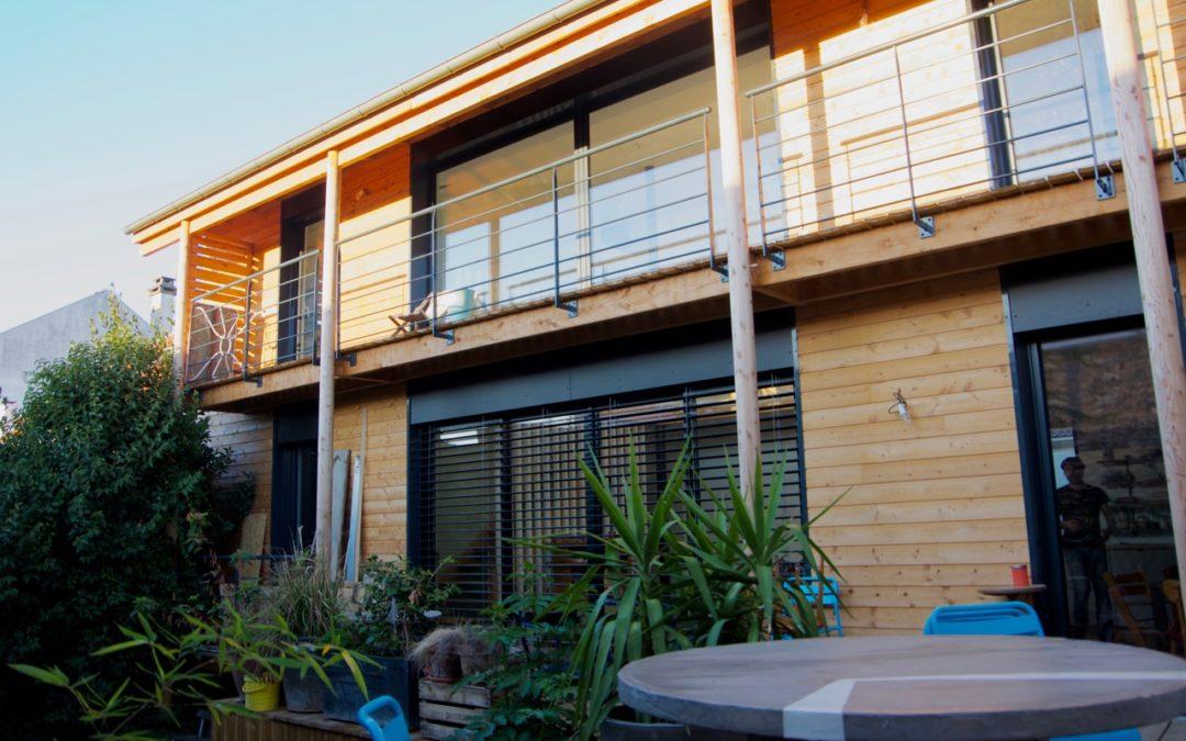 Surélévation bois d'une maison à Ivry-sur-Seine par Marc LAFAGNE architecte Dplg