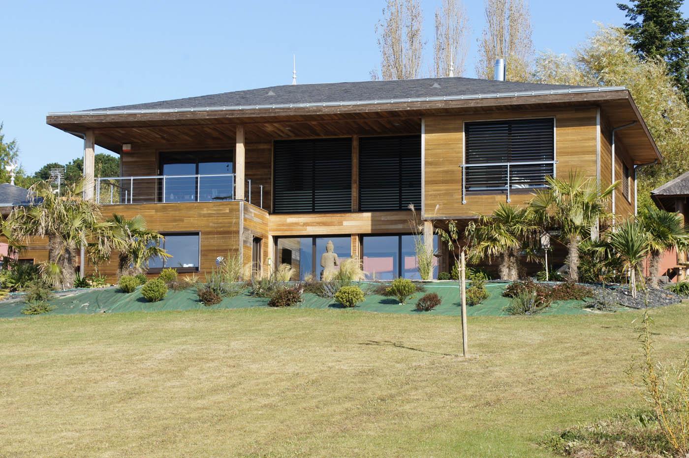 Maison ossature bois etage la maison est en ossature bois for Extension bois etage