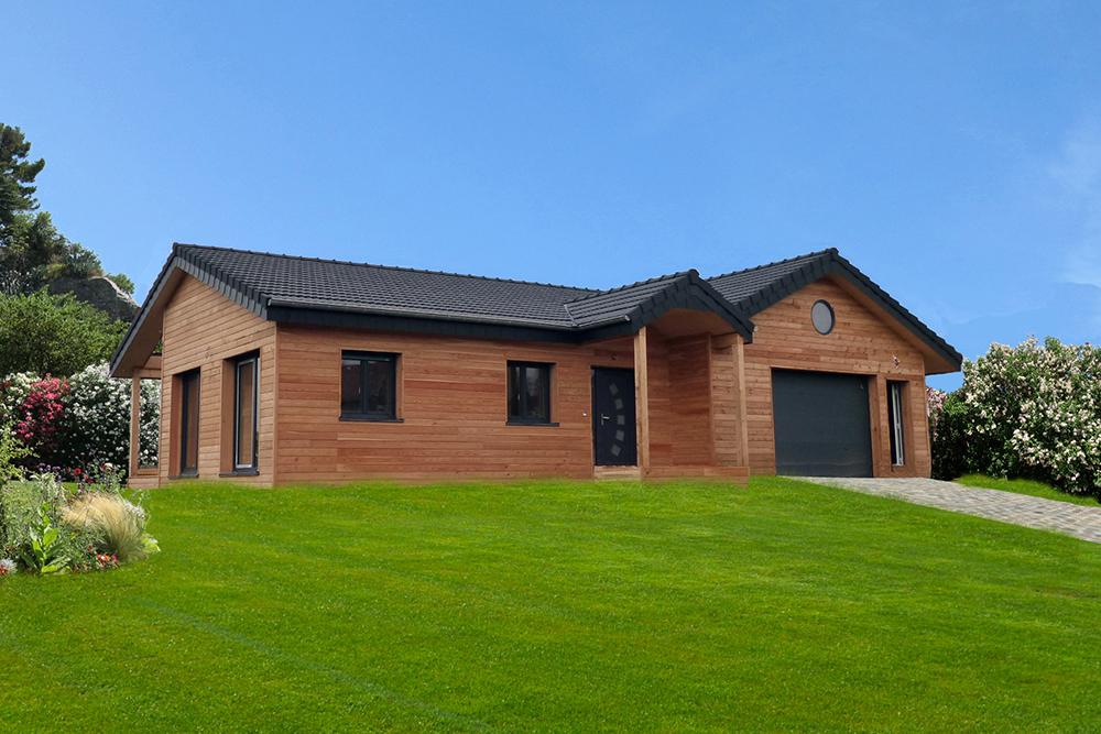 Maison bois sur un seul niveau  la maison bois par maisonsboiscom