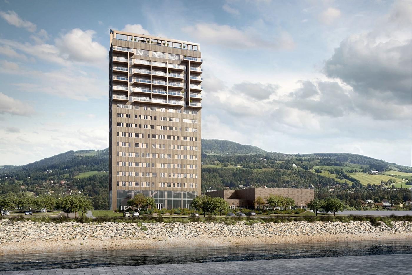 Maison Ossature Bois Suede le plus haut bâtiment en bois du monde est en cours de