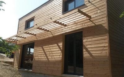 Maison Ossature Bois moderne et cubique